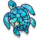 - Gadsen Flags in USA Sea Turtle Sticker for Laptops CupsTumblers Cars and Trucks Any Smooth Surface (Cyan Dream)