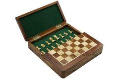 507 G.Rosewood/Maple Wood-Lacquered-Magnetic in Built Chess Men 2 Door Size 10
