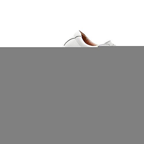 Cuña Zapatillas Mujer Zapatos Blanco Cómodo Plataformas rismart Bucle Cuero THRn5wdqY