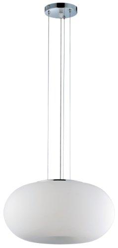 Eurofase 12894-055 Pop 2-Light Convertible Pendant, Chrome/White