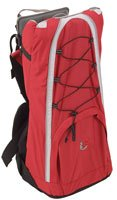 2daf30f13101 Bush Baby Lite Back Carrier Red With Sun Shower hood  Amazon.co.uk  Baby