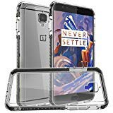 Orzly OnePlus 3T / OnePlus 3 Case, Fusion Bumper Case Cover Shell for OnePlus Three (Original 2016 Model & 3T Version) Protective Hard Cover with Impact Absorbing Black Rubber Rim & Clear Back Panel