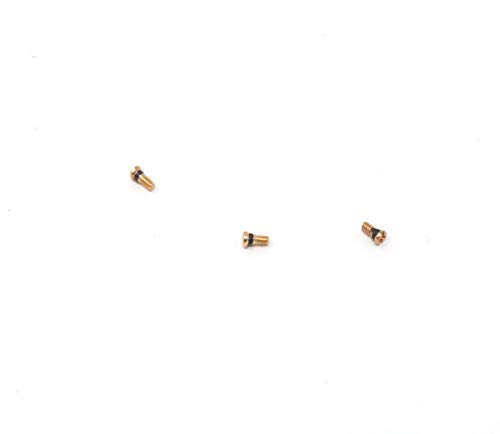 Gold Replacement Hinge Screws to fit Ray-Ban Aviator RB 3025 Sunglasses (Set of 3) (Rb Aviator Small)