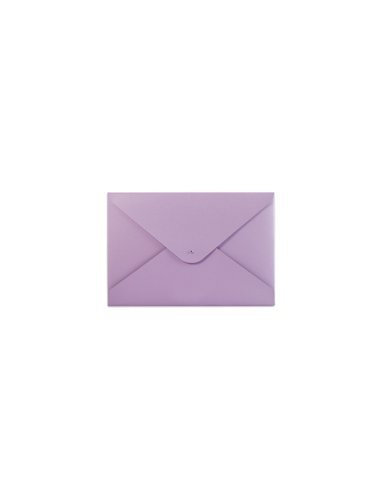 Paperthinks Lilac Recycled Leather Small Folder, 7.5 x 4.7-inches (Lilac File Folders)