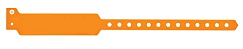 (United Ad Label Orange Blank Vinyl Wristband, 10-7/8 x)