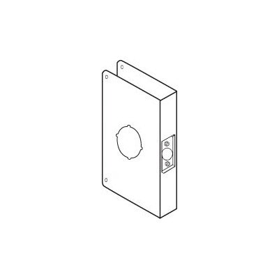 Don-Jo 55A-CW 22 Gauge Stainless Steel Mortise Lock Wrap-Around Plate Oil Rubbed Bronze Finish 6-1//2 Width x 9 Height