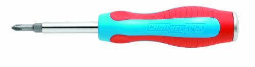 Channellock 61CB 6n1 Screwdriver, Slotted 3/16 and 1/4, Phillips 1 and 2, Nut driver 5/16 and 1/4, Outdoor Stuffs