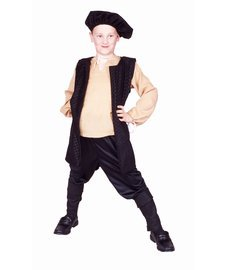 RG Costumes Renaissance Boy Costume, Brown/White, Medium (Renaissance Halloween Costume)