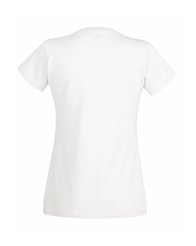 Fruit of the Loom - T-shirt -  Femme Blanc Blanc