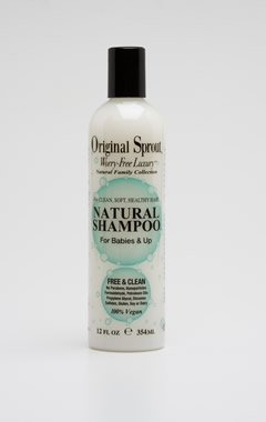 Original Sprout Natural Shampoo  Organic Sulfate Free Shampoo For All Natural Hair Care  33 Oz
