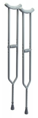 Lumex Imperial Steel Crutches Adult 5 Feet 2 Inches To 5 Feet 10 Inches, Aluminum 3614A