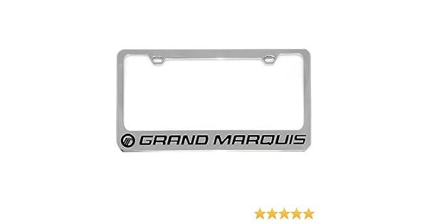 Mercury Logo Chrome Plated Brass Metal License Plate Frame Holder