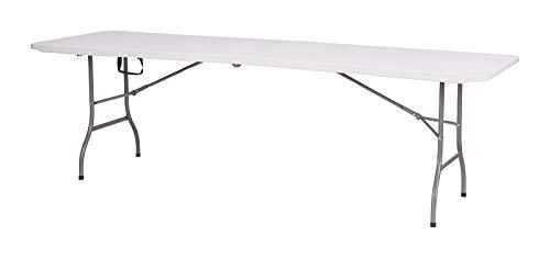 Klappbar Gartentisch aus Kunststoff XXL wei/ß Gartentisch Klapptisch Maxx 244 x75x74 cm