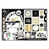 Create 365 The Happy Planner Mini Box Kit, Black & White, 12 months, Undated