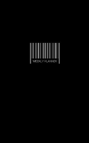 Weekly Planner : Minimalist Organizer / Barcode / Black Cover 5