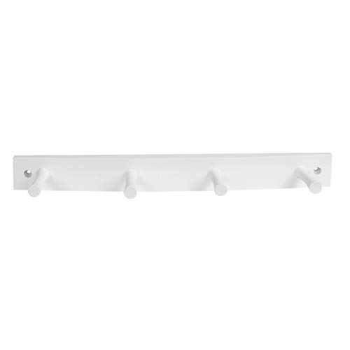 - Spectrum Diversified Wood Hook Rack, 4 Peg, White