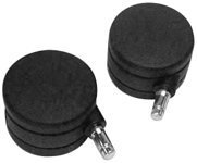 Herman Miller 3-Inch Aeron Office Chair Replacement Double-Wheel Caster Set for Hard Floor and Deep Carpet (Set of 5)