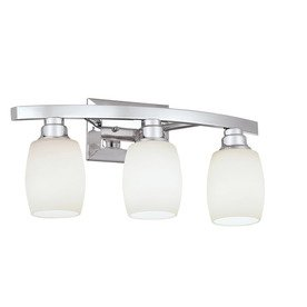 allen + roth 3-Light Chrome Bathroom Vanity Light