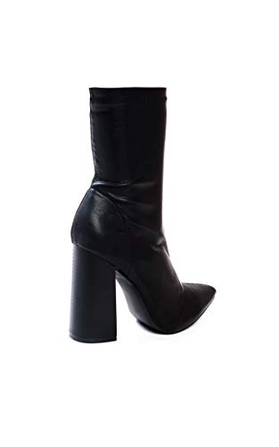 Pia Chaussures P Womens Black Pointu Ikrush De Cuir Faux qaw5C