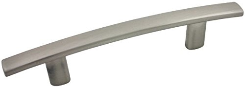 """Cosmas 2363-3.5SN Satin Nickel Subtle Arch Cabinet Hardware Handle Pull - 3-1/2"""" Hole Centers - 25 Pack"""