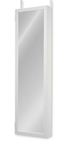 Plaza Astoria Wall/Door-Mount Jewelry Armoire, White