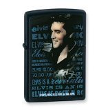 Zippo Elvis Black Matte Pocket Lighter