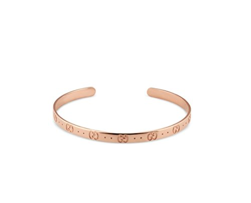 Gucci Bangle Bracelet - Gucci Icon thin bangle bracelet in 18kt pink gold, width 4mm Size 17 STYLE: YBA434524002