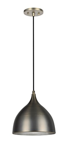 Aspen Creative 61086, 1-Light Hanging Mini Pendant Ceiling Light, 9 3/4