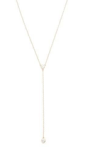 Shashi Women's Solitaire Lariat Necklace, Gold, One - Lariat Vermeil Necklace