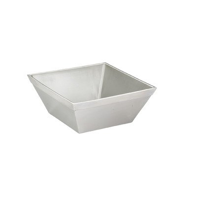 Cal-Mil 3326-7-55 Cold Concept Bowl, 4.5 Quart Capacity, 4'' Height, 7'' Width, 7'' Length, Stainless Steel by Cal Mil