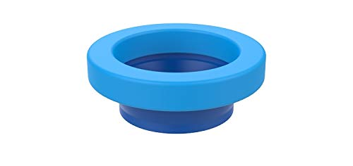 Wax Free Toilet Seal - EasyDrain Ref. 030706-424 Soft Rubber Universal Better Than Wax Toilet seat Seal, Wax-Free Toilet Bowl Gasket