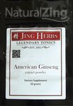 Jing Herbs American Ginseng Extract Powder 50 Grams Review