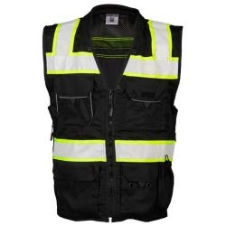 ML Kishigo Enhanced Visibility Professional Utility Vest Black, 3XL, Model# B500-3X