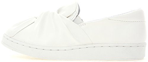 Maxstar Slip Fashion Bow Synthetic 202 White Classic Leather Sneakers on wHAOgq