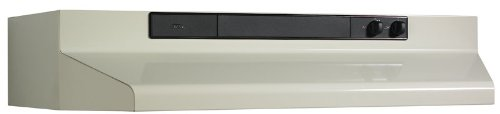 Broan 463002 Under-Cabinet Range Hood with Infinitely Adjustable Speed Control, 30-Inch, Bisque