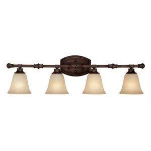 Capital Lighting 1334BB-287 Vanity with Mist Scavo Glass Shades, Burnished Bronze - Glass Mist Scavo