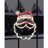 Impact Innovations Christmas Lighted Window Decoration, Santa Face