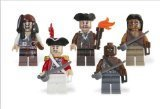 Figure Mini Pirate - LEGO Pirates of the Caribbean Mini Figure 5Pack Item #4638572 Captain Jack Sparrow, Gunner Zombie, Yeoman Zombie, Scrum King Georges Officer 853219
