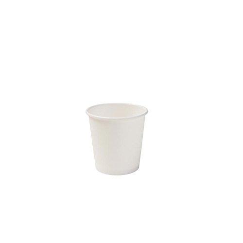 BIOZOYG Tasse à Expresso Bio jetable I Une Tasse de dégustation biodégradable et compostable I Gobelet jetable Biologique Blanc, Non imprimé 50 pièces 100ml 4 oz