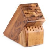 17 Slot Knife Block Block Finish: (Wood Knife Holder)