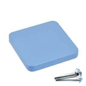 6 Un TIRADOR Pomo Mueble BEB/É cuadrado madera lacada azul 70X70MM