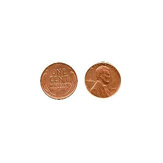 1943 Copper Plated Real US Steel Penny Numismatic Coin ()