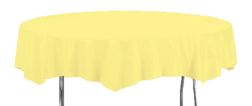 Creative Converting Octy-Round Plastic Table Cover, 82-Inch, Mimosa ()