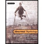 Abnormal Psychology by Seligman, Martin E. P., Walker, Elaine F., Rosenhan, David L. (W W Norton & Co Inc (Np),2001) [Hardcover] 4th Edition