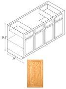Chadwood Series Sink Base Cabinets Oak, Flat Panel Doors
