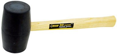 "General Tech Intl 2260099 ""Steelgrip"" Rubber Mallet 32 Oz"