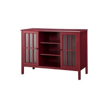 Amazon Windham 2 Door Cabinet With Center Shelves Red Kitchen