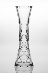 Crystal Waisted Bud / Rose Vase - 25 cm - (Waisted Vase)