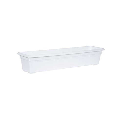 Countryside Flower Box Planter, White, 30-Inch