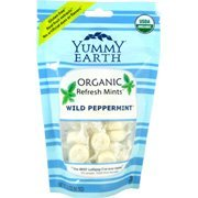 Yummy Earth Organic Wild Peppermint Candy Drop, 3.3 Ounce -- 6 per case.